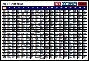 2010 NFL 1-Page Schedule
